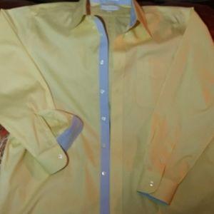 Paul Frederick,  Men Yellow Dress Shirt